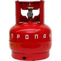 Газовый балон НЗГА 5 л, сталь, цвет красный