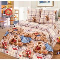 Комплект постельного белья MILANIKA Топтыжки полутораспальный, поплин