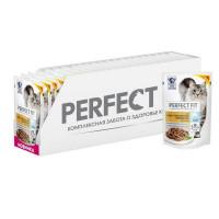 Влажный корм для кошек Perfect Fit лосось, 24 шт по 85г