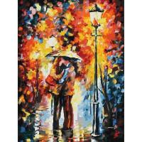 Картина по номерам на картоне Белоснежка Поцелуй под дождем 3015-CS