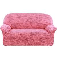 Чехол на угловой диван с выступом справа Еврочехол Тела Ридже бордовый 38/249-10