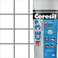 Затирка для узких швов Ceresit CE 33 «Comfort», ширина шва 2-6 мм, 2 кг, сталь, цвет антрацит