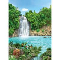 Фотообои Твоя планета Премиум Тропический водопад 194х272 см