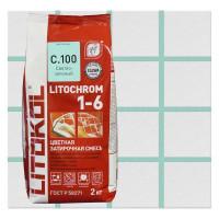 Затирка цементная Litochrom1-6 C.100 цвет светло-зелёный 2 кг