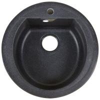 Мойка врезная Granfest Rondo GF-R 50 см глубина 19 см, мрамор, цвет чёрный