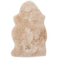 Шкура овечья одинарная, 0.95x0.55 м цвет бежевый