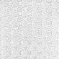 Плитка потолочная бесшовная полистирол белая Формат Веер 50 x 50 см 2 м²