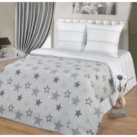 Комплект постельного белья MILANIKA Звездный двуспальный, поплин