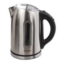 Электрический чайник SONNEN KT-1740, 1,7 л, 2200 Вт, закрытый нагревательный элемент, терморегулятор, нержавеющая сталь, 453421