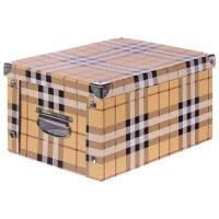 Коробка картон 35x25x17.5 см, клетка