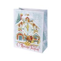 Пакет подарочный «Новогодние часы» 41x49 см
