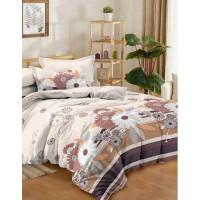Комплект постельного белья полутораспальный Текстильная лавка Магия цветов , микрофибра
