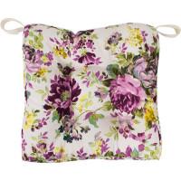 Сидушка для стула «Акварель, цветы», 40х35 см, цвет сиреневый