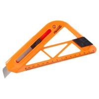 Нож 18 мм для резки обоев с линейкой