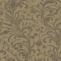 Обои текстильные Aura Victoria коричневые 0.53 м 070087
