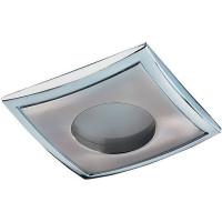 Светильник встраиваемый Aqua квадратный, GU5.3, 50 Вт, цвет никель, IP65