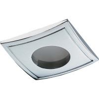 Светильник встраиваемый Aqua квадратный, GU5.3, 50 Вт, цвет хром, IP65