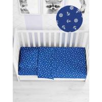Комплект постельного белья в кроватку ТК Русский дом Якоря КПБд/262.639-1