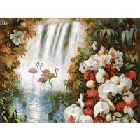 Картина на холсте по номерам Белоснежка Райский сад 093-AS