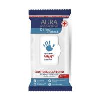 Влажные салфетки антибактериальные AURA Derma Protect, 40+40шт. 212540