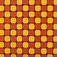 Пленка самоклеящаяся «Соты» 9206, 0.45х2 м, витраж, цвет красный