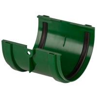 Соединитель желобов Dacha 120 мм зелёный