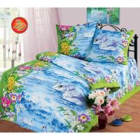 Комплект постельного белья MILANIKA Лебединое озеро полутораспальный, бязь