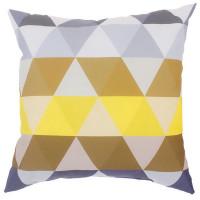 Подушка декоративная «Охара» 40х40 см цвет желтый