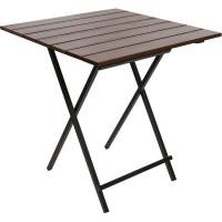 Стол садовый складной Quadro, металл/дерево, цвет каштан
