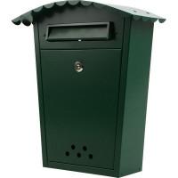 Почтовый ящик «Волна», нержавеющая сталь, цвет тёмно-зелёный