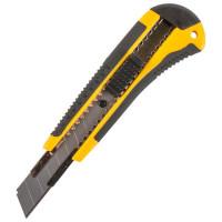 Нож 18 мм двухкомпонентная ручка 1 лезвие