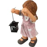 Фигура садовая «Девочка с фонарем» высота 21 см