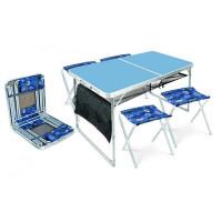Набор садовой мебели стол и 4 дачных стула ССТ-К3/4 металл