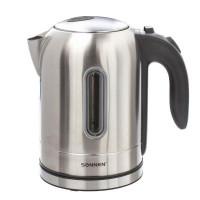 Электрический чайник SONNEN KT-1755, 1,7 л, 2200 Вт, закрытый нагревательный элемент, нержавеющая сталь, 453419