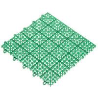 Покрытие садовое из ЭКО-пластика, 34х34 см, цвет зелёный/терракот, 9 шт.