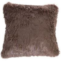 Подушка декоративная 40х40 см цвет коричненый