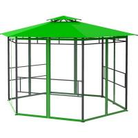 Шатер садовый с антимоскитной сеткой Отдых 4x4x2.59 м сталь зеленый (без штор)