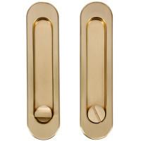 Ручка для раздвижных дверей с механизмом SH011-BK SG-1, цвет матовое золото
