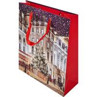 Пакет подарочный «Вечер в декабре» 26 см