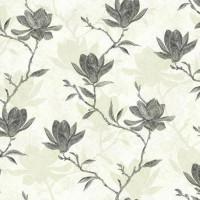 Обои бумажные Ashford House Botanical Fantasy чёрные 0.70 м WB5454