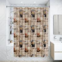 Штора для ванной комнаты «Спа» 180х180 см цвет бежевый