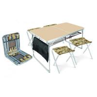 Набор садовой мебели стол и 4 дачных стула ССТ-К3/5 металл
