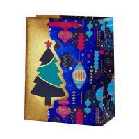 Пакет подарочный «Елочные игрушки» 26x32 см
