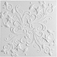 Плитка потолочная бесшовная полистирол белая Формат Ренессанс 50 x 50 см 2 м²