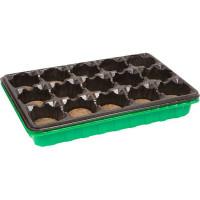 Набор для рассады с торфяными таблетками 36x23 см, 15 ячеек