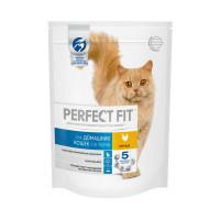 Сухой корм PERFECT FIT для живущих в помещении взрослых кошек, с курицей, 190г