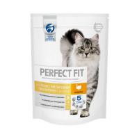 Сухой корм PERFECT FIT для взрослых кошек с чувствительным пищеварением с индейкой, 190г