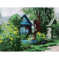 Картина по номерам на картоне Белоснежка Домик в деревне 3091-CS
