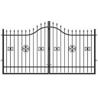 Ворота Аврора 3.6х2.0 м с регулируемыми петлями