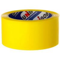 Лента клейкая упаковочная Unibob 48 мм x 66 м, цвет жёлтый